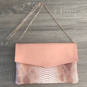 Urban Expressions Pink snakeskin clutch